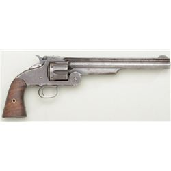 Smith & Wesson Second Model American, .44 S&W  cal., single action revolver, brown patina  finish, w