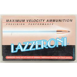 Two boxes of Lazzeroni precision performance  7.82 (.308) Warbird caliber cartridges  (20/box); 4,03