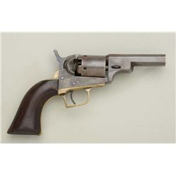 "Colt Baby Dragoon percussion revolver showing  some restoration, .31 cal., 3"" octagon  barrel, blue"