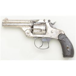 "Antique Smith & Wesson .38 DA Third Model top  break revolver, .38 cal., 3-1/4"" barrel,  nickel fini"