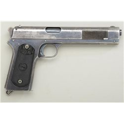 "Colt Model 1902 Military semi-auto pistol,  .38 cal., 6"" barrel, early variation with  ""nail file"" s"