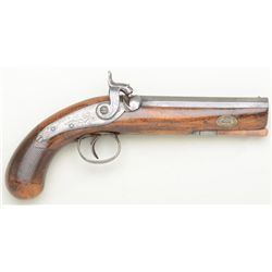 Large bore percussion belt pistol signed   Nock London , circa 1850s-60s in good  original condition