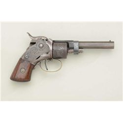 Massachusetts Arms Company .28 cal., 6-shot  pocket size revolver with Maynard tape primer  device,