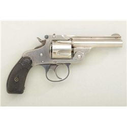 Scarce Marlin Model 1887 .38 cal. DA  revolver, nickel finish, hard rubber grips,  serial #8738.  Th