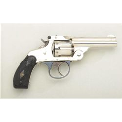 Scarce Marlin Model 1887 .32 cal. DA  revolver, nickel finish, hard rubber grips,  serial #14098.  T