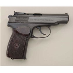 "Russian-made Makarov Model 70 DA semi-auto  pistol, 9mm cal., 3-3/4"" barrel, blue finish,  checkered"