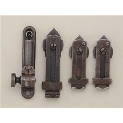 Lot consisting of one 1876 Winchester folding  express type rear sight in good condition;  two Winch