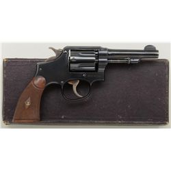 Smith & Wesson New Model hand ejector, .32-20  cal., double action revolver, blue finish,  checkered