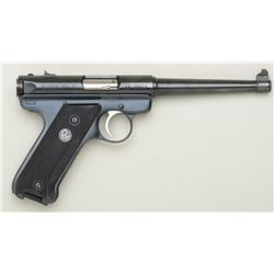 "Ruger MK II semi-auto pistol, .22LR cal., 6""  barrel, blue finish, checkered black plastic  grips, #"