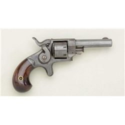 Allen side hammer .22 cal., 7-shot spur  trigger revolver, serial #14417.  The  revolver remains in