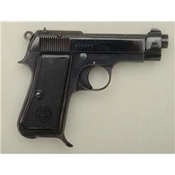 "Beretta Model 1934 semi-auto pistol, 9mm  Corto cal., 3-1/2"" barrel, blue finish, black  hard rubber"