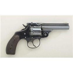 Scarce Marlin Model 1887 DA .38 cal.  revolver, re-blued finish, hard rubber grips,  backstrap inscr
