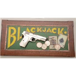 Colt Model 1903 Pocket pistol, .32 ACP cal.,  nickel finish, pearl grips with beautifully  construct