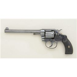 "Colt Pocket Positive DA revolver, .32 Police  cal., desirable 6"" round barrel, blue finish,  checker"