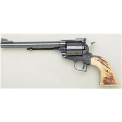 "Ruger Blackhawk .44 magnum single action  revolver, 7-1/2"" barrel, blued finish, stag  grips, no tra"