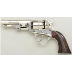 "Cooper Navy Pocket Model DA percussion  revolver, .36 cal., 4"" octagon barrel, nickel  finish, wood"