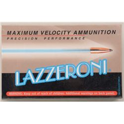 Lot of four boxes of precision performance  Lazzeroni cartridges in 6.53 (.257) Scramjet  caliber wi