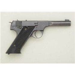 High standard U.S.A. Model HD, .22 LR cal.,  semi-automatic pistol, blued finish,  checkered wood gr