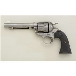 "Colt Bisley single action revolver, .45 cal.,  5-1/2"" barrel, grey finish, checkered black  hard rub"