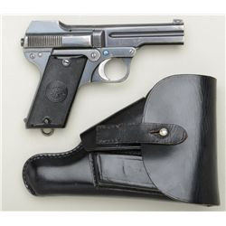 "Steyr Pocket semi-auto pistol., .32 cal.,  3-1/2"" barrel, blue finish, checkered black  plastic grip"
