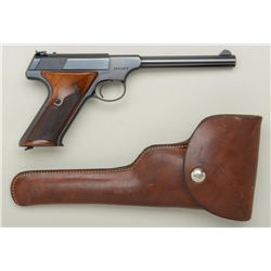 "Colt Targetsman semi-auto pistol, .22LR cal.,  6"" barrel, blue finish, checkered wood  grips, #16326"