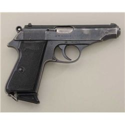 "Walther Model PP DA semi-auto pistol, .22LR  cal., 3-3/4"" barrel, blue finish, import  marked, check"