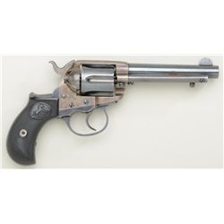 "Colt Model 1877 DA revolver, .38 cal., 4-1/2""  barrel, blue and case hardened finish,  checkered bla"