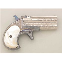 Remington .41 cal. O/U derringer showing  2-line E Remington & Sons address, finely New  York style