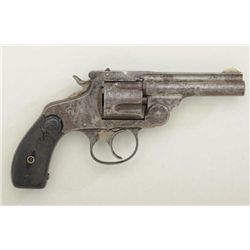 Scarce Marlin Model 1887 DA revolver, .38  cal., traces of original blue finish, hard  rubber grips,