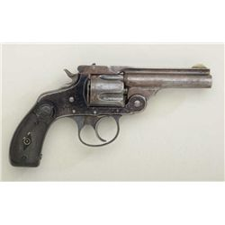 Scarce Marlin Model 1887 DA .38 cal.  revolver, blue finish, hard rubber grips,  serial #9685.  The