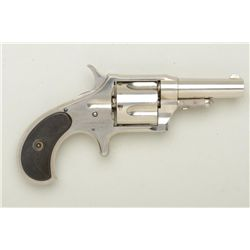 "Remington Smoot Model 4 spur trigger  revolver, .38 cal., 2-1/2"" barrel, nickel  finish, checkered b"