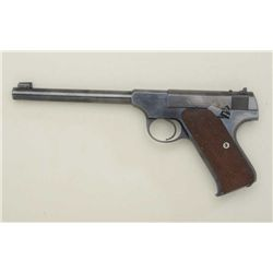 Colt Woodsman .22 cal. semi-automatic pistol  in fine to near excellent condition, serial  #182012.