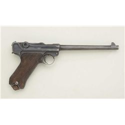 Interesting .30 cal. Luger with Erfurt marked  slide showing sight at the rear, similar to  Navy.  T