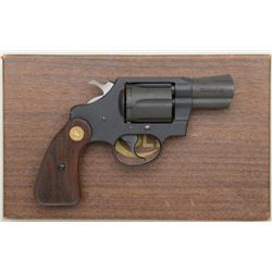 "Colt Agent .38 special, 2"" barrel double  action revolver with flat military type  finish, checkered"