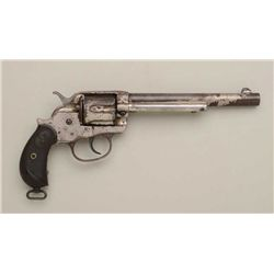 Colt Model 1878 DA frontier revolver, .45  Colt cal., 7-1/2  barrel, nickel plated, hard  rubber gri