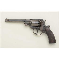 Mass Arms .36 cal. 5-shot revolver with 6   octagon barrel, made on Adam's patent showing  old re-bl