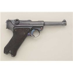 G date, S42 coded 9mm Luger pistol, showing  German transition proofs, serial #33095 with  Inter-Arm