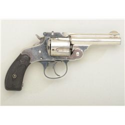 Scarce Marlin Model 1887 DA .38 cal.  revolver, nickel plated, hard rubber grips,  serial #6269.  Th