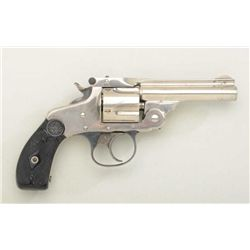 Scarce Marlin Model 1887 .32 cal. DA  revolver, nickel finish, hard rubber grips,  serial #1595.  Th