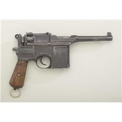 "German Bolo Mauser semi-auto pistol,  import-marked, 4"" barrel, blue finish, ""NS""  stamp on back of"