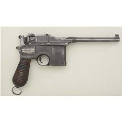 "German Mauser Banner commercial Model  semi-auto pistol, 5-1/2"" barrel, military  blue finish, groov"