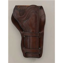 "High quality holster for Single Action Army  revolver with 4-3/4"" barrel, plugged bottom,  double lo"
