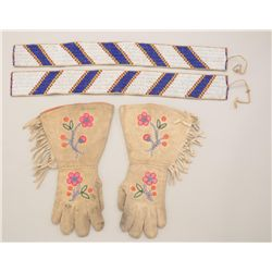 Lot of native Indian bead work consisting of  2 beaded wampum strips, 19th to early 20th  century, m