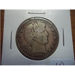 1904 BARBER HALF DOLLAR (VERY GOOD)