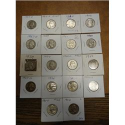 18 ASSORTED WASHINGTON SILVER QUARTERS
