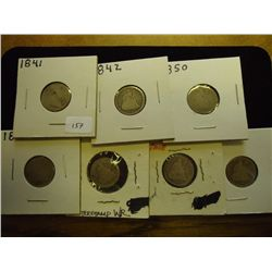 1841,42,50,76,86,87 & 91 SEATED LIBERTY DIMES
