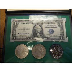 THE SILVER STORY CONTAINS: PEACE SILVER DOLLAR