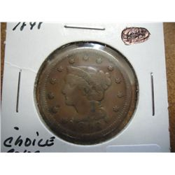 1848 US LARGE CENT (FINE)