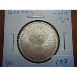1970-F GERMANY 5 MARK BU BEETHOVEN