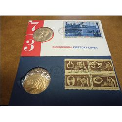 2 US MINT FDC'S 1972 & 73 BICENTENNIALS